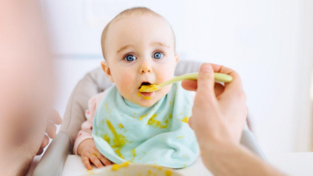 Bebé come tupper de comida casera ecológica